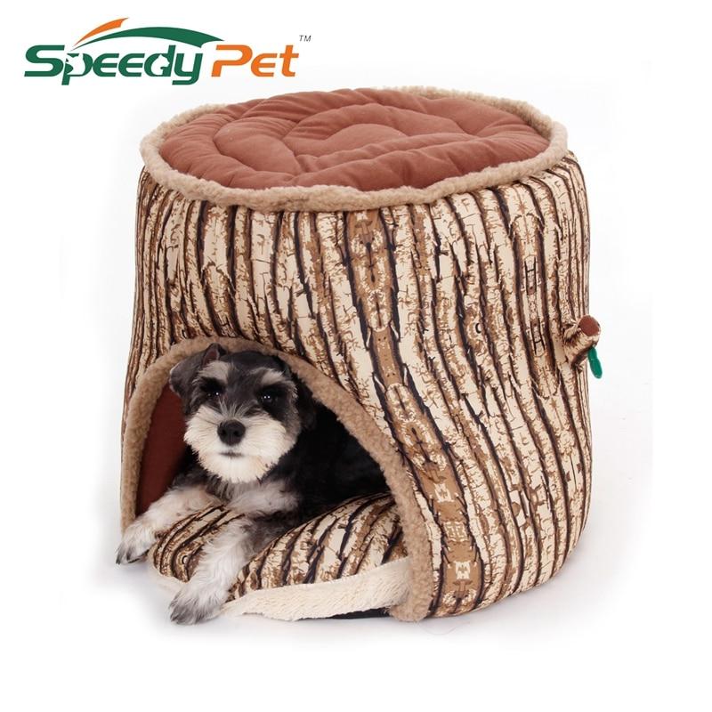 Spezielle Design Haustier Bett Weiche Hund Haus Baum Loch Design Hundehütte Verdicken Welpen Katze Kissen Kissen Couch Sofa Matte Große Qualität