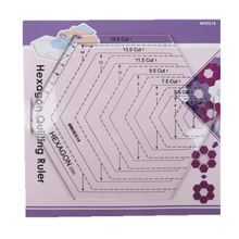 Best Price American quilts hexgon quilting patchwork ruler DIY cutting template ruler