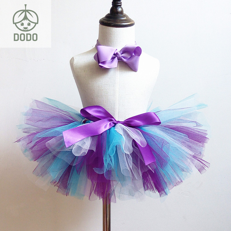 Baby Birthday Tutu Skirt  Fluffy Rainbow Tutu Toddler Girls Costume Party Wear Baby Girls Clothing first birthday gift  1