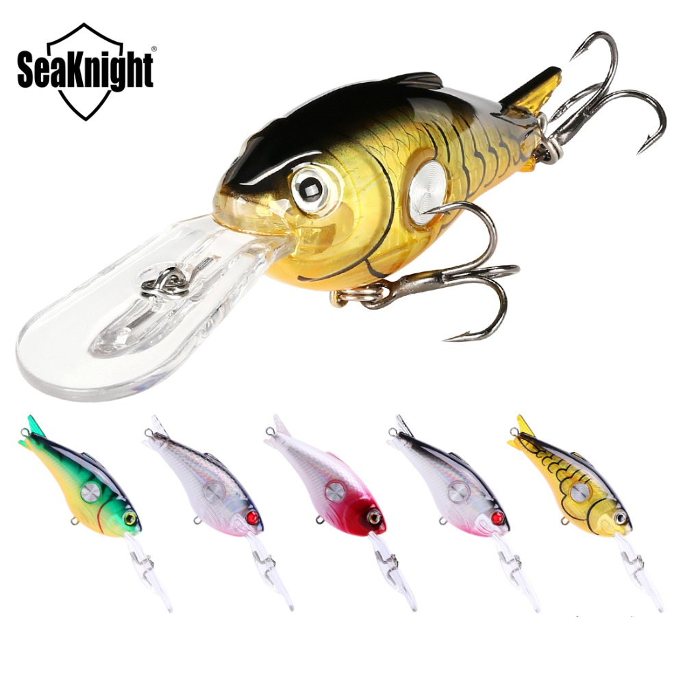 SeaKnight SK003 Crankbait 55mm 10g 1.8-3.9M 5Pcs Hard Fishing Lures Floating Wobblers Crank Hard Bait Sea Carp Fishing Lure Set