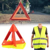 Giantree 360 Degree Reflective Vest And 2 Pcs Car Emergency Reflective Sign Reflective Warning Board Reflective