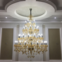 Classic Crystal Chandeliers Lighting Largge Chandelier In The Living Room High Ceiling Chandeliers Suspension Hanging Lighting