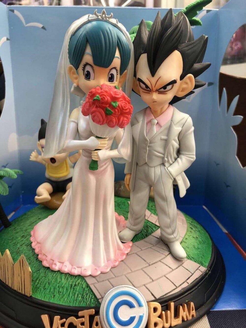 Горячий Жемчуг дракона Супер Saiyan принц Вегета Bulma женится на свадьбе день бурума детские трусы сцена фигурка игрушки лучший подарок - 2