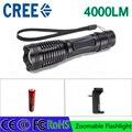 Z30 E6 LED Фонарик XM-L T6 4000LM Горелки Масштабируемые Факел света Для 1x18650 аккумуляторная батарея