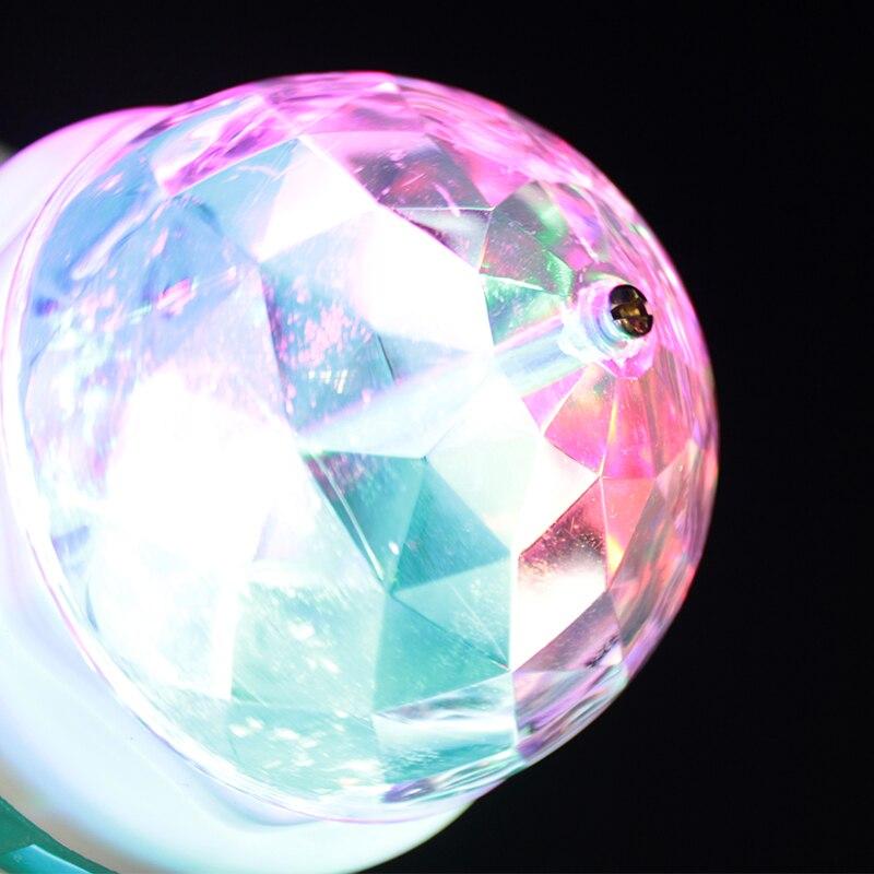 Lâmpadas Led e Tubos w e27 rgb led cristal Light Tipo : Led Rgb Bulb