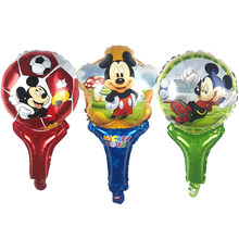 1psc hand-held mickey mouse pat aluminum foil balloons Children's toy balloon birthday party decoration kids toy Supplies(China)