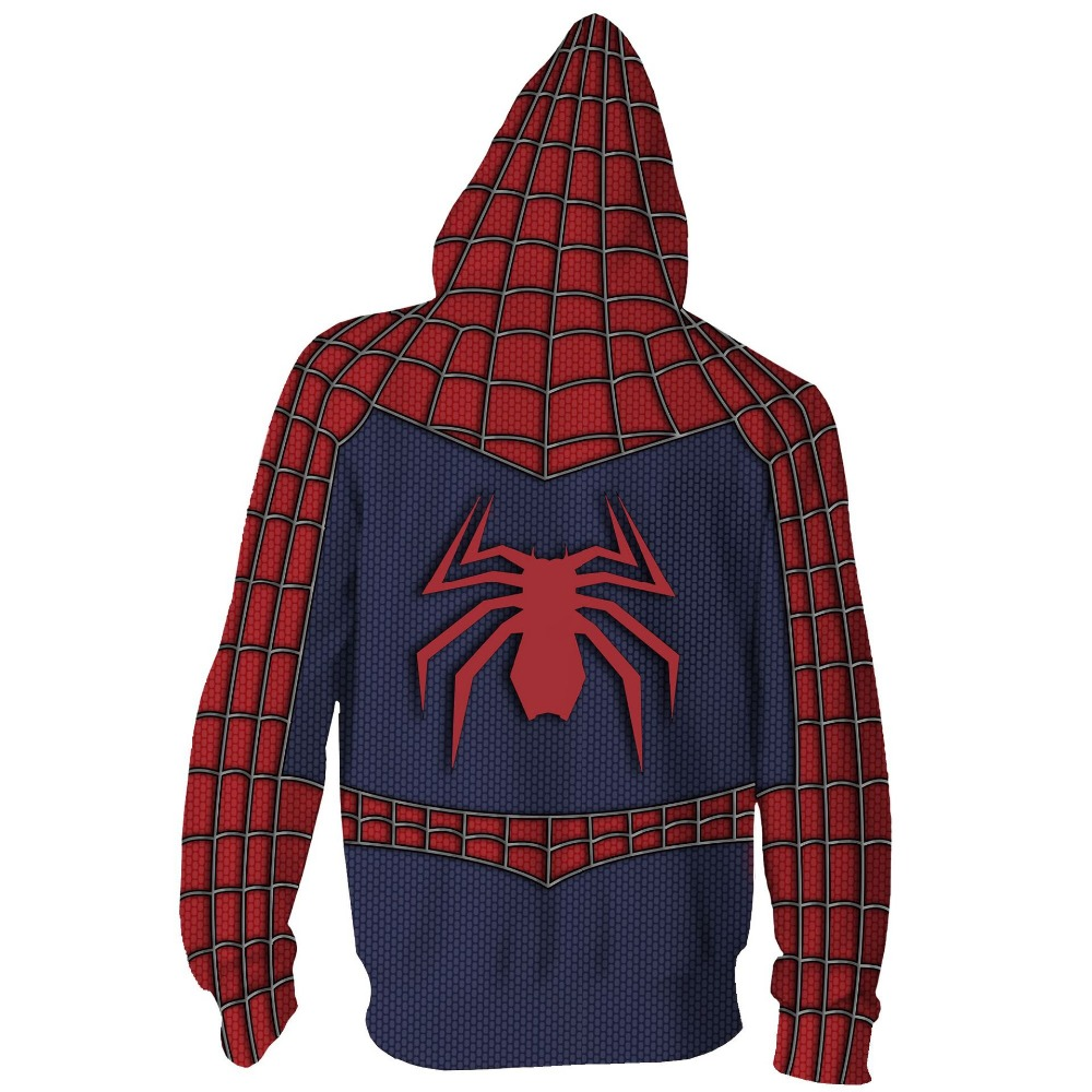 Image 2 - Free shipping woman and man's Marvel Comics new design spiderman 3D printed anime cosplay coat Hoodie jacket JQ 2628-in Hoodies & Sweatshirts from Men's Clothing