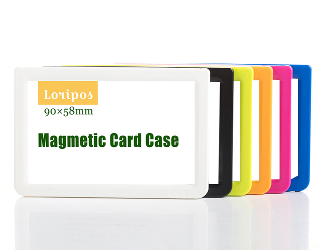 9058mm magnetic card display rack label paper sign holder case fridge magnet frame metal - Card Rack