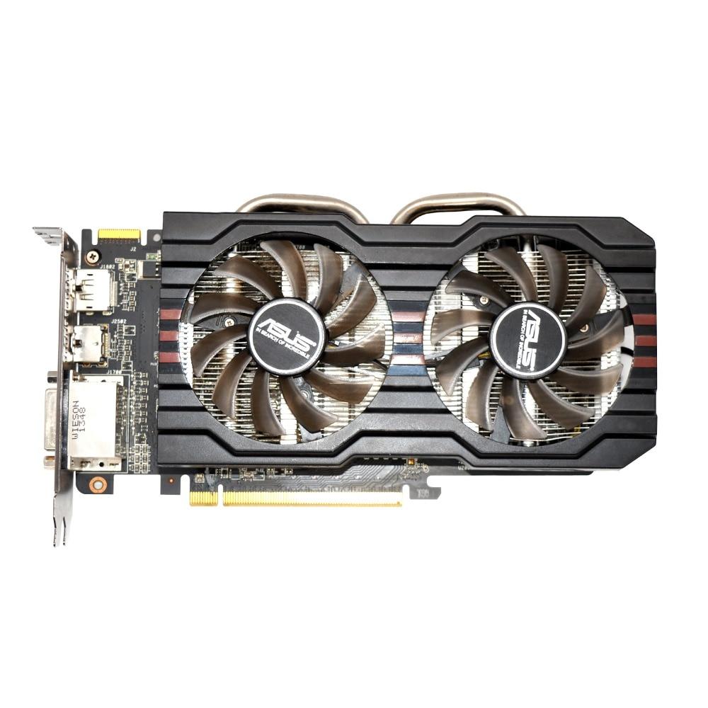 Usado, ORIGINAL ASUS R9 270 GB 256bit 2 GDDR5 Gaming PC Desktop Placa Gráfica, 100% testado bom