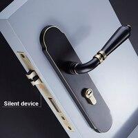 Top Quality 1Set European Solid Brass Door Lock Set Interior Silent Door Lock w keys for Wood Door/Living Room/Bedroom/Bathroom