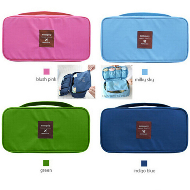 15b53dd465c 2016 Travel Necessity Accessories Women's Storage Bag For Underwear Clothes  Lingerie Bra Organizer Cosmetic Pouch Suitcase Case