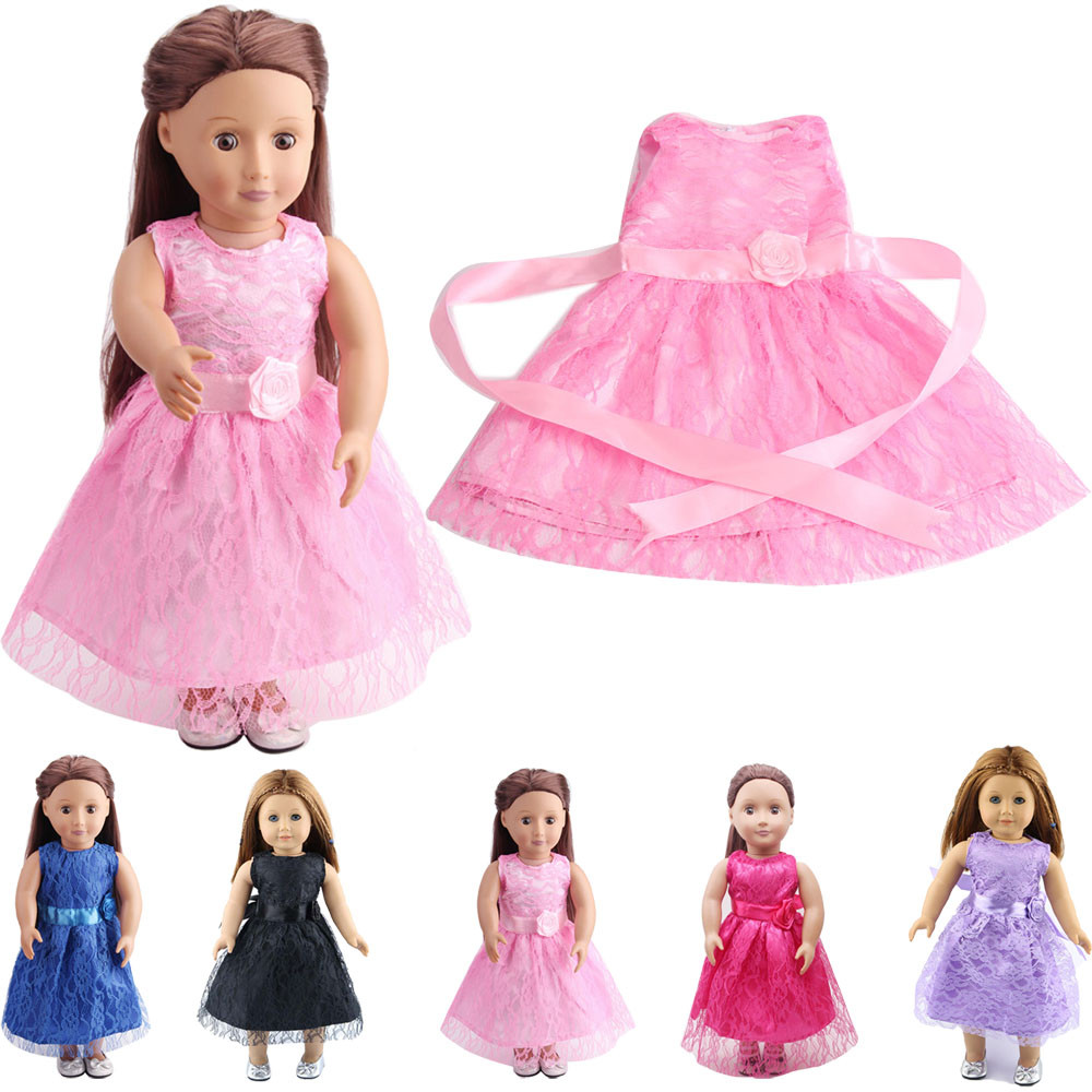 High Quality Lace skirt For 18 inch Our Generation American Girl Doll the United States girls doll clothing