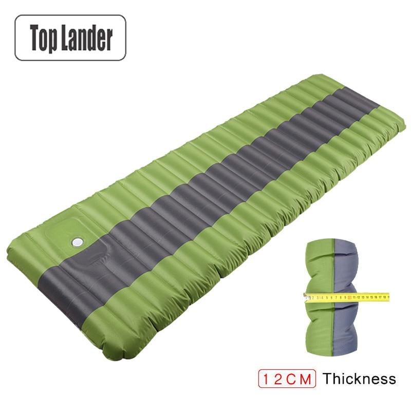 12cm Air Mattress Tent Camping Inflatable Mattress Air Bed Waterproof Outdoor Camping Mat Ultralight Portable Sleeping