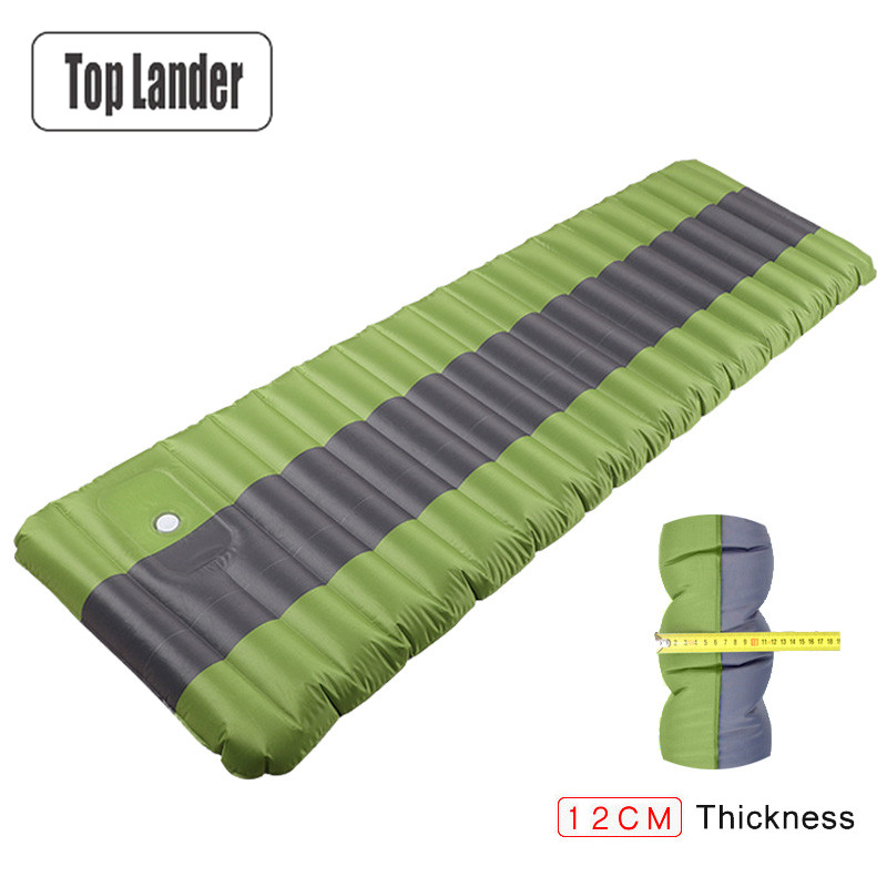12cm Air Mattress Tent Camping Inflatable Mattress Air Bed Waterproof Outdoor Camping Mat Ultralight Portable Sleeping Pad durable thicken pvc car travel inflatable bed automotive air mattress camping mat with air pump