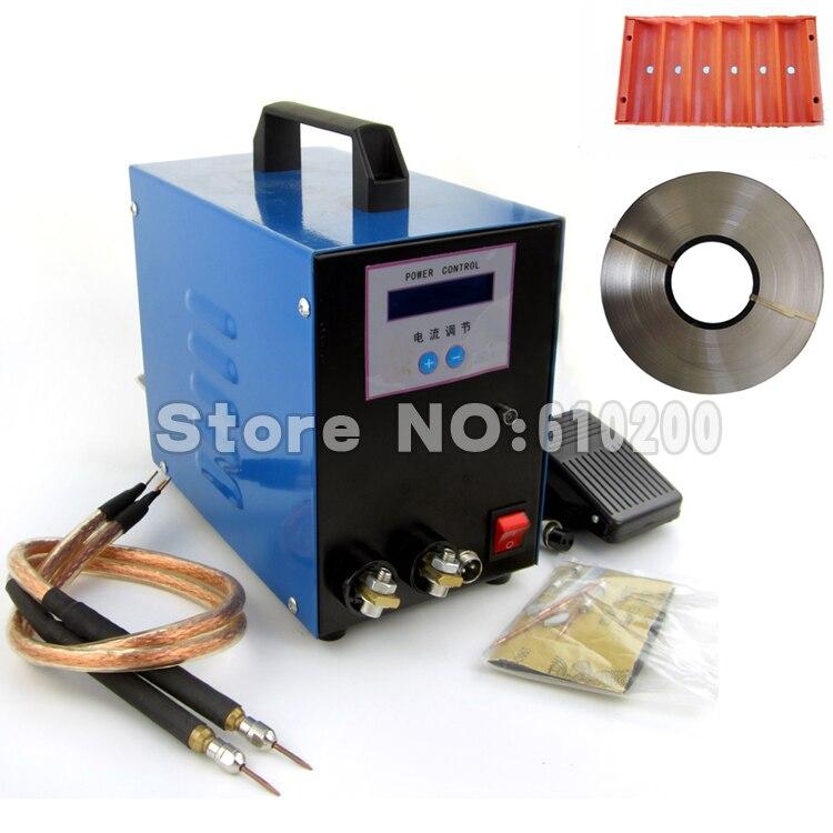 Nouveau LCD 18650 batterie soudeur machine Pédale contrôle 18650 stylo de poche-entrée machine à souder + 5mm 1 kg Nickel + Fixation