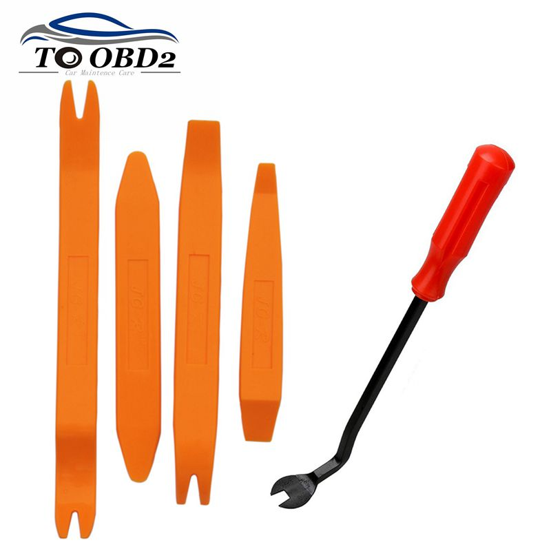 High Quality 4pcs Remover Removal Puller Pry Tool Car Door Panel Trim Upholstery Retaining Clip Plier Tool Hand Tool Set