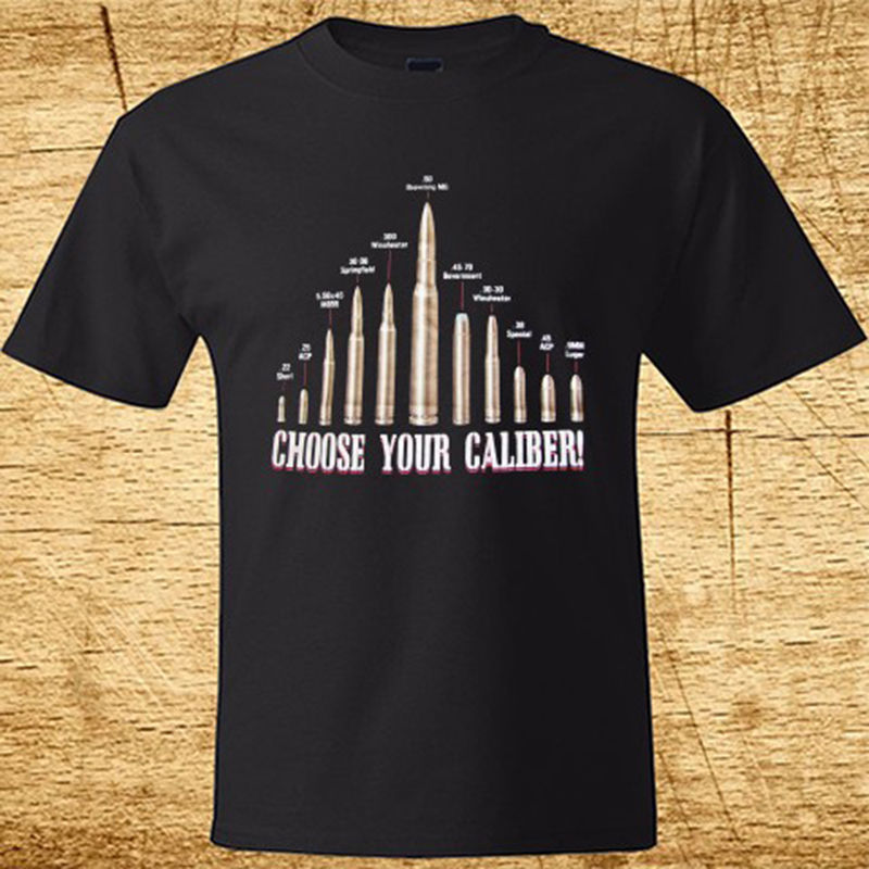 New Choose Your Caliber FPS Game Mens Black T-Shirt Size S-3XL 100% Cotton High Quality Casual Printing Tee Hipster T Shirt