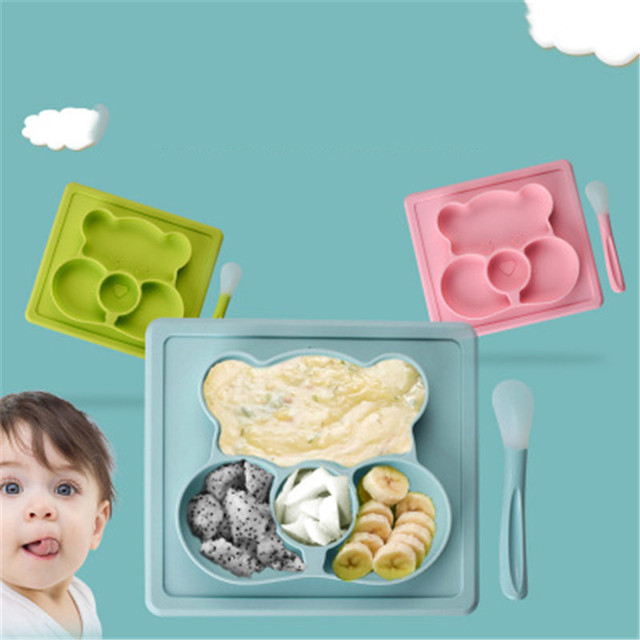 Cartoon Shaped Silicone Plate for Baby