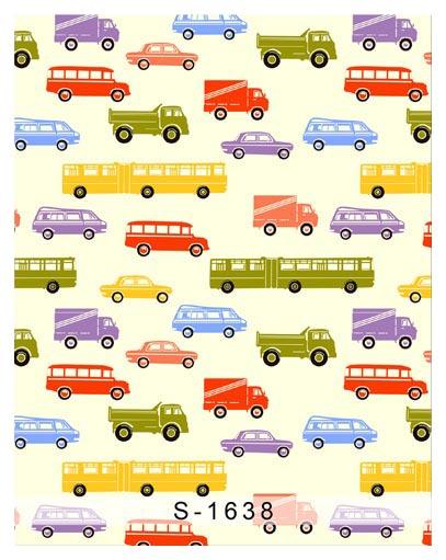 Kustom Vinyl Kain Kartun Sekolah Bus Van Truk Fotografi Latar
