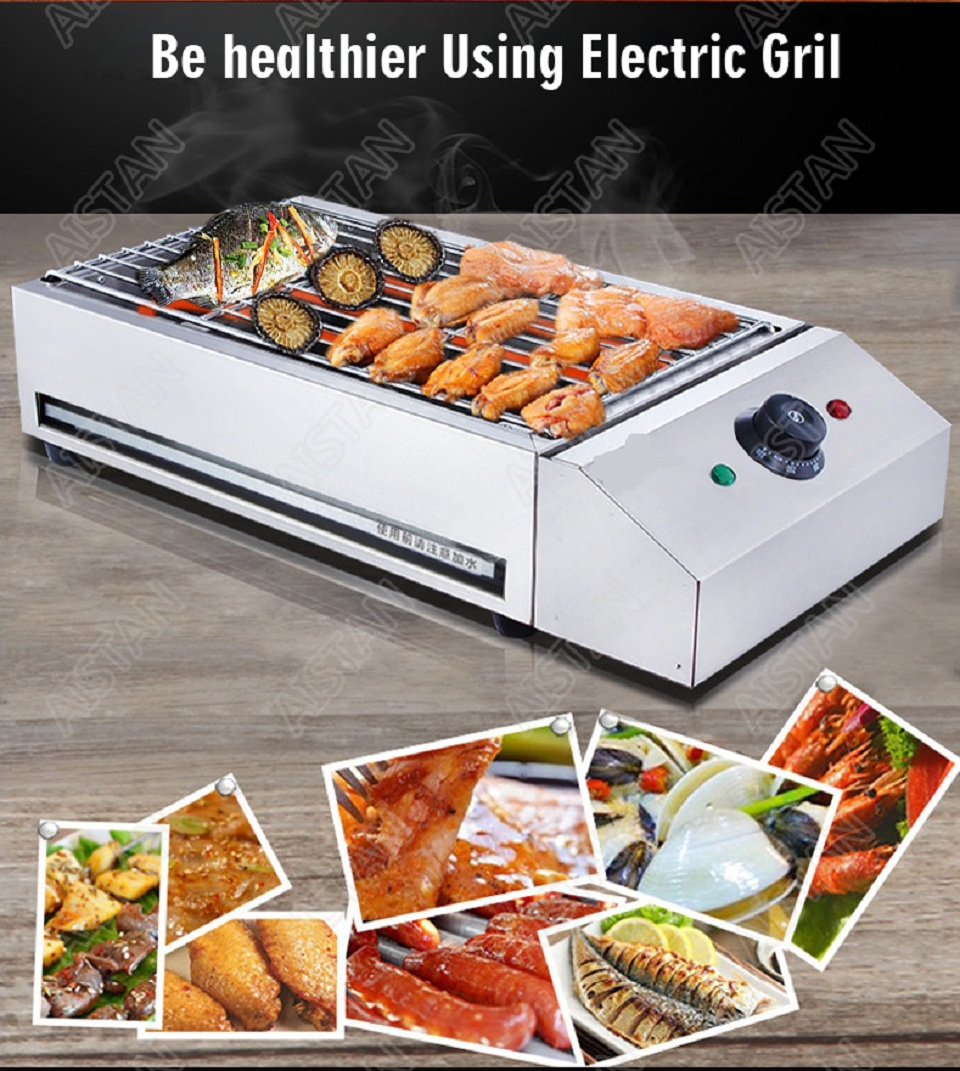 EB280 Electric Smokeless Barbecue Oven Grill for bbq machinery Stainless Steel High Power 3