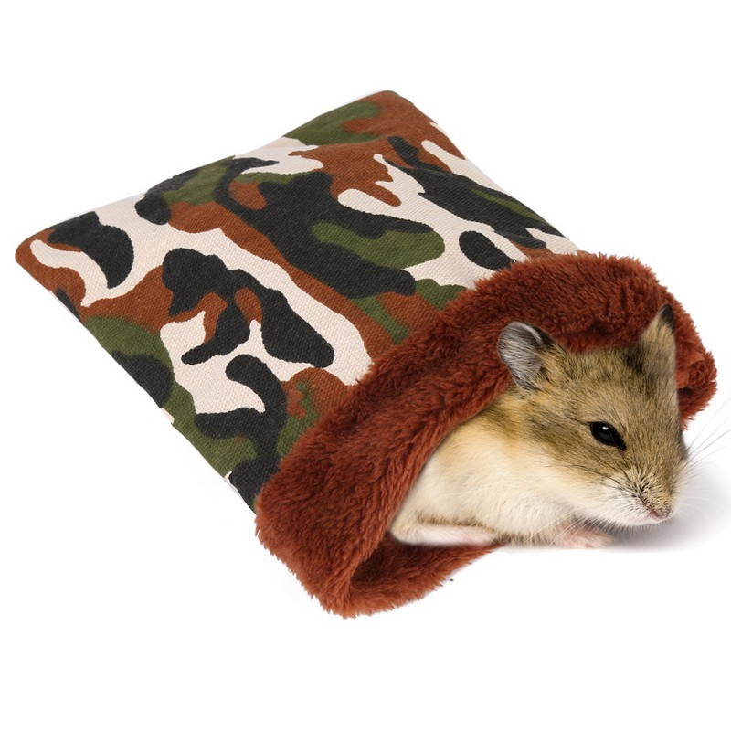 Warm <font><b>Plush</b></font> Hamster Bed House Soft <font><b>Guinea</b></font> <font><b>Pig</b></font> Bed Rat Nest Small Animals Mouse Sleeping Bag cavie House Accessories Hamster Cage image