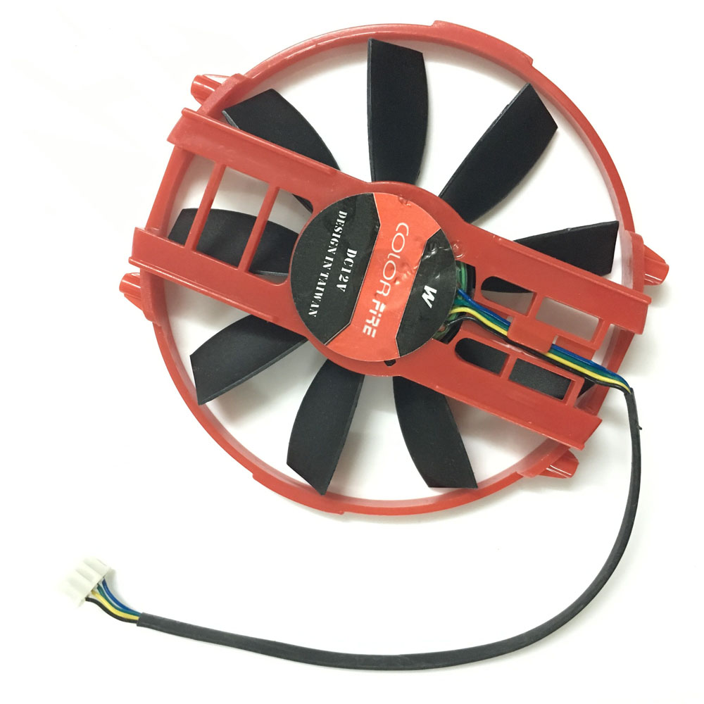 90MM graphics cards Fan VGA Cooler Fans For Colorful HD 6750 6770 HD6570/6750/6670 Video Card Cooling free shipping 90mm fan 4 heatpipe vga cooler nvidia ati graphics card cooler cooling vga fan coolerboss