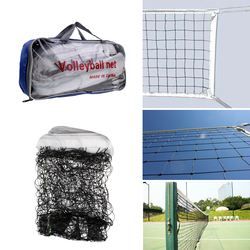 Foldable Standard Official Size Outdoor Indoor Beach Volleyball Net Sports Netting with Steel Cable and Pouch