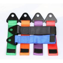 2 pçs/set cinta de reboque Universal corrida De Alta qualidade cinta de reboque do carro/cordas/gancho/barras de reboque sem parafusos e porcas L309
