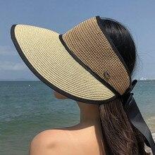 Соломенная пляжная летняя шляпа ткацкая Выходная шляпа женские s туристические шляпы пляжные солнцезащитные очки для женщин Sombrero Mujer Verano# BL5