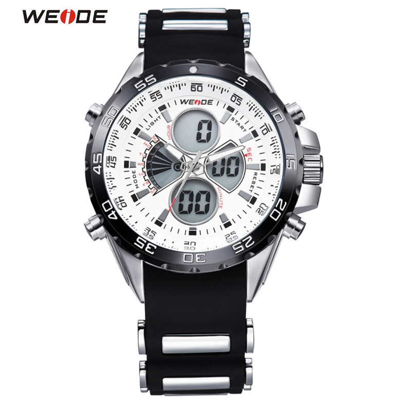 Famous Brand WEIDE Sport Watch 3ATM Digital Waterproof Silicone Strap Men Quartz Fashion Men's Casual Wristwatch watch men led digital waterproof wristwatch casual man sport watches 2017 new weide famous brand saat erkekler horloges mannen