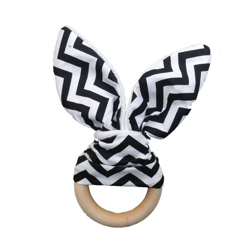 Nuevo Suave Orejas de Conejo Juguete de Bebé Juguete Mano de madera - Juguetes para niños - foto 2