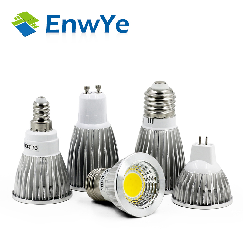 COB GU10 GU5.3 E27 E14 MR16 12V Lampada LED Lamp 220V 110V 3W 5W 7W Bombillas LED Spotlight Lamparas LED Bulbs Light dimmable gu10 gu5 3 mr16 e27 led spotlight 3w 4w 5w 85 265v red green blue yellow light lampada spot candle luz led lamp bulbs