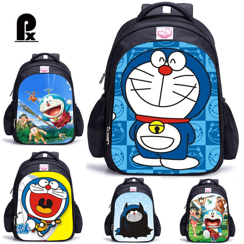 Children School Bags Doraemon Pattern Backpack For Girls And Boy Kids Lovely Character Backpack Primary Bookbag Sac A Dos Enfant