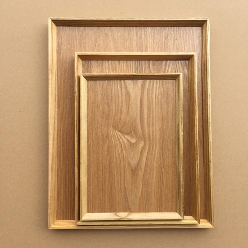 Bandeja de madera del rectángulo de la bandeja de la porción de - Organización y almacenamiento en la casa