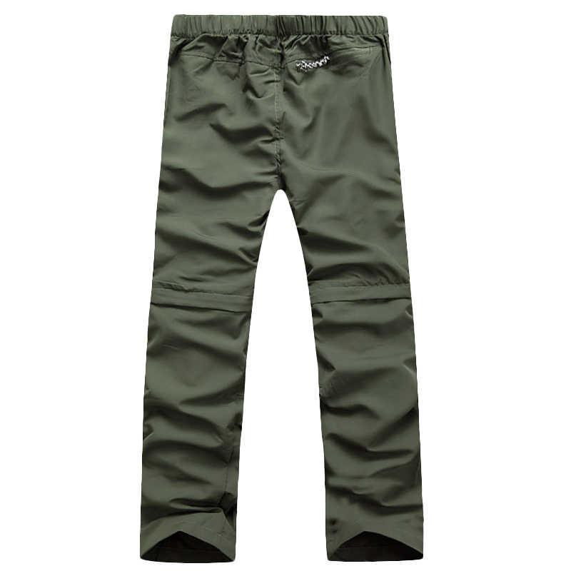 מהיר יבש מכנסיים גברים נשלף מזדמן ארוך לנשימה מכנסיים גברים אנטי Uv צפצף פעיל צבא מכנסיים בתוספת גודל S-XXXL