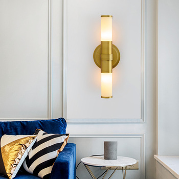 Nordic postmodern wall lamp living room bedroom bedside lamp corridor aisle simple personality wall lamp