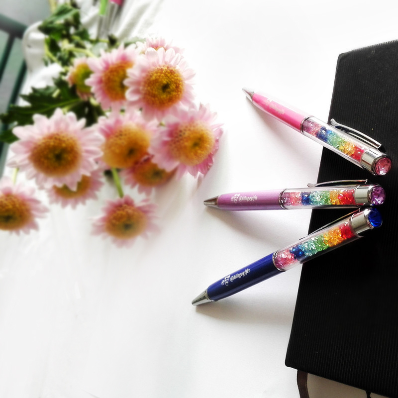 095c468e2 Buy personalized wedding gifts and favors logo pen with crystal top  imprinted with your words text for wedding party -in Banner Pens from  Office   School ...