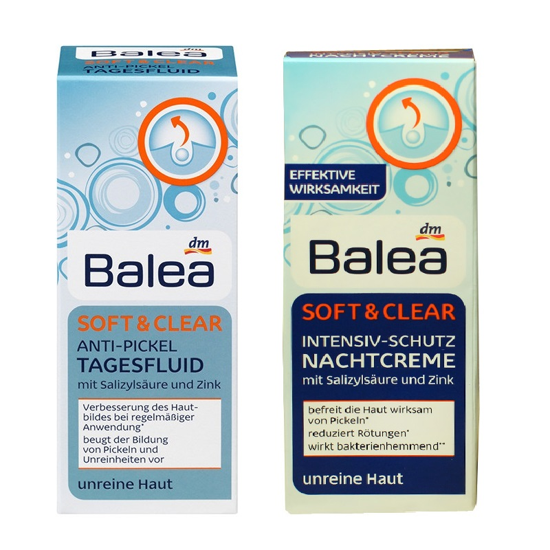 Germany Balea Soft Clear Intensive Day Cream Night Cream Set For Prone Skin Oil balancing cream