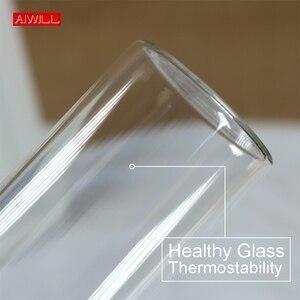 Image 4 - AIWILL gorąca sprzedaży szklana sportowa butelka na wodę z obudowa ochronna 280ml / 360ml / 550ml butelki na rower owocowy wysokiej jakości