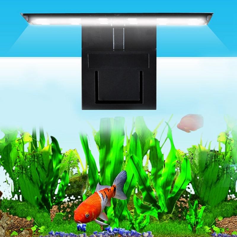 EU Plug 12 LED Aquarium Lamp Fish Tank Clamp Clip Water Plant Grow White Color Lighting MY5_30