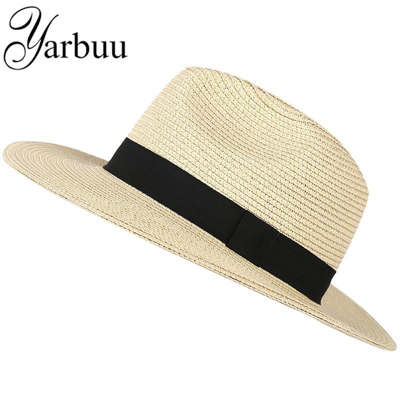 [YARBUU] fedora kalap a férfiak és nők számára 2017 új divat forró stílus nap kalapok A brit szabadidős sapka nyári sapkák fiú ingyenes szállítás