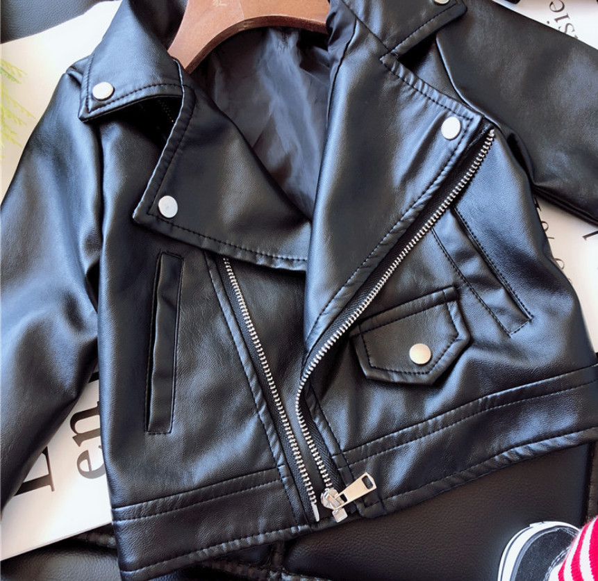e0d231db7 New 2019 Kids Baby Girl Jackets Fashion Motorcycle PU Leather Children Jacket  Boys Biker Coats Overcoat Black Child Cool Clohes-in Jackets & Coats from  ...