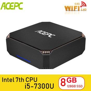 ACEPC CK2 Desktop Computer Mini PC Windows 10 Intel NUC Core i5 7300U 8GB DDR4 120GB SSD 2.4G 5G WiFi/BT4.2 4K mini pc linux