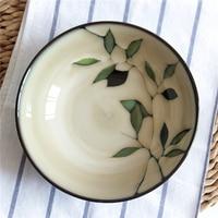 EECAMAIL Retro ceramic tableware Japanese style Hand painted Bamboo Ramen Bowl Rice Bowl Salad Bowl Soup Bowl