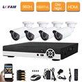LOFAM 8CH 960H DVR home CCTV Security Camera System 4pcs IR Filter Outdoor waterproof IP66 1000TVL Video Surveillance kit 4ch