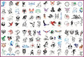 Template tattoo golden phoenix NO.09 airbrush tattoo stencils 100pcs animal theme picture