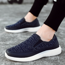 цена на Sneakers Men's Summer Shoes 2019 New Plus Size 39-45 Comfortable Men Casual Shoes Mesh Breathable Loafers Flats Shoes Footwear