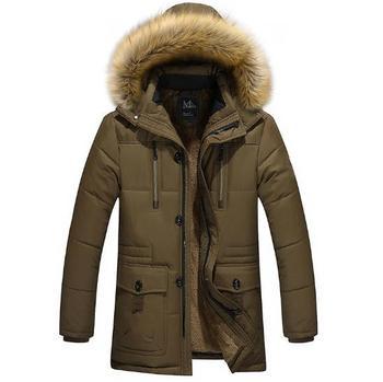 Winter Mens Long Coat Jacket Casual Cotton Coat Male Cotton Quality Fashion Long Down Jacket Thick Velvet Warm Coat Size M-5XL
