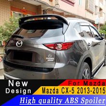 цена на For Mazda CX5 spoiler High quality ABS material Rear wing For Mazda CX-5 2013 to 2015 spoiler Primer or any color rear spoiler