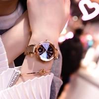 2018 luxury Rose Gold Women Watches Fashion Ladies Dress watch women Causal Watches Clock Female Stainless Steel Wristwatches